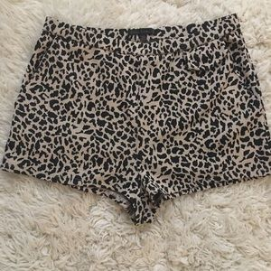Lucca couture leopard cheetah shorts